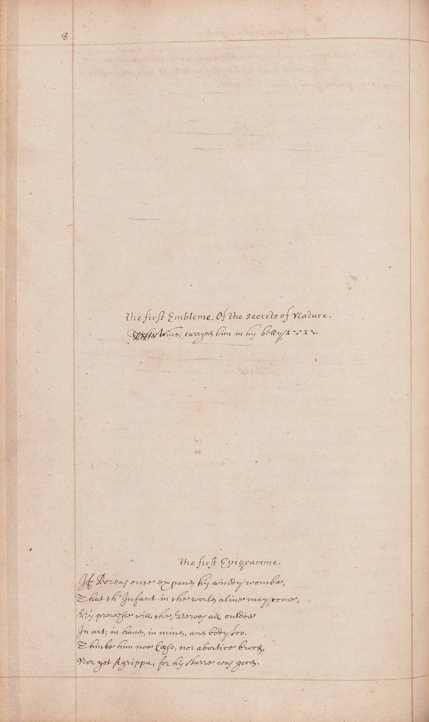 An unillustrated manuscript page from an English translation of Maier's text.